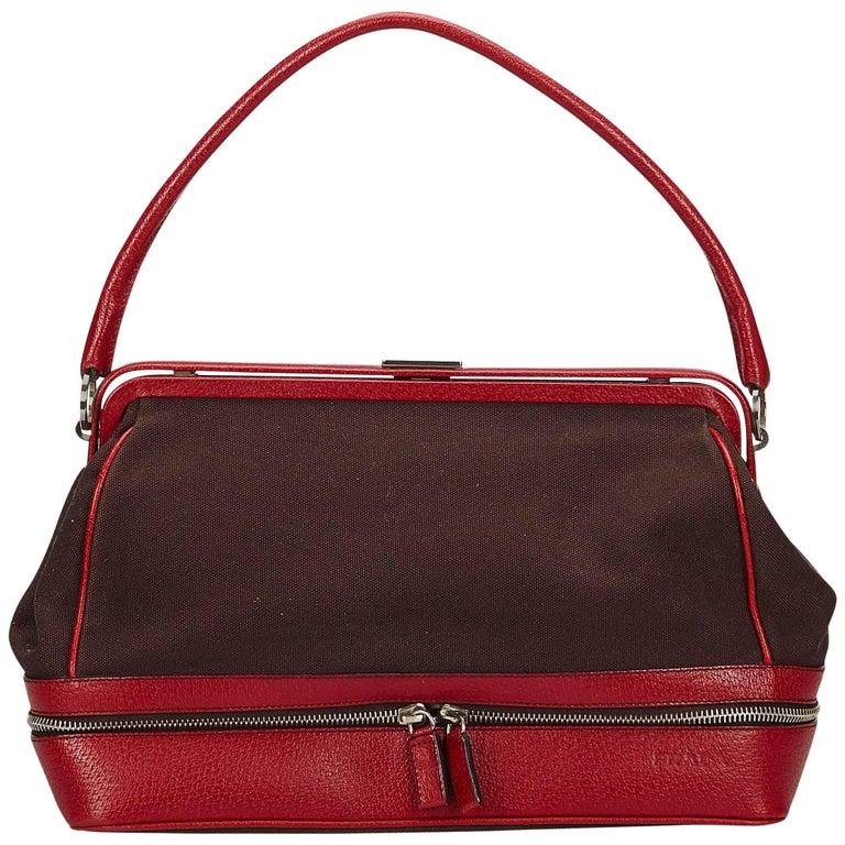 Prada Brown Ethnic Doctor Bag