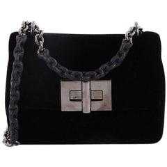 Tom Ford Natalia Chain Shoulder Bag Velvet Small