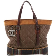 Chanel Paris-Edinburgh Tote Quilted Mixed Leather with Flannel Medium