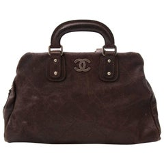 Chanel Brown Caviar Leather Outdoor Ligne Doctors Bag
