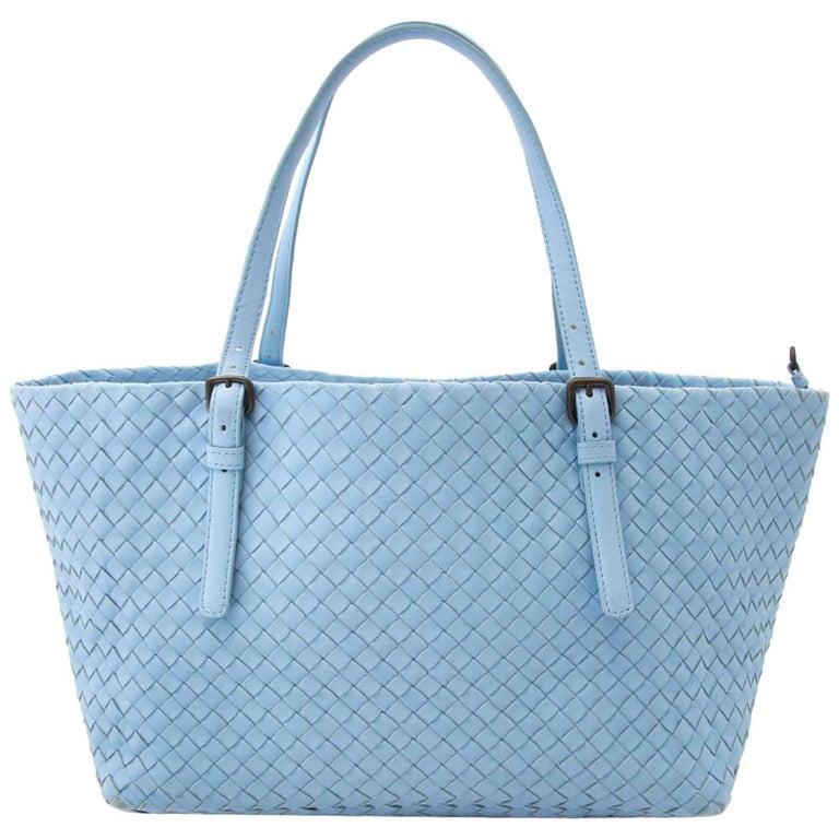 Bottega Veneta Light Blue Cesta Shopper Bag