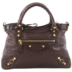 Balenciaga Town Giant Studs Handbag Leather