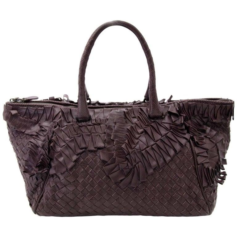 Bottega Veneta Woven Python Tote Bag