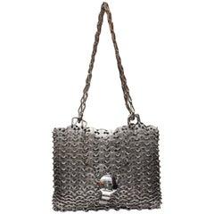 Paco Rabanne silver-tone metal 69 bag