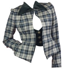Vivienne Westwood Gold Label Tartan Waistcoat Jacket from AW1997 Size US  6