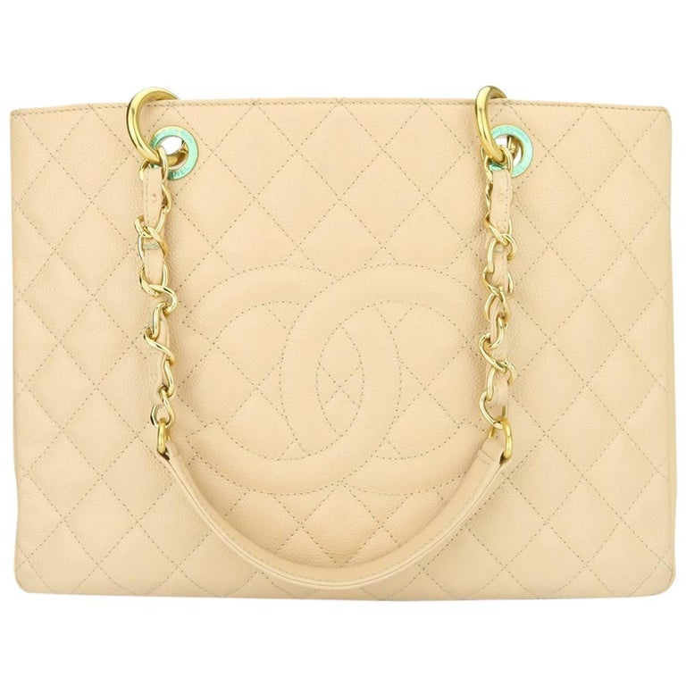 028d5bc12d30 ... PursesTote Bags. CHANEL Grand Shopping Tote (GST) Beige Clair Caviar  with Gold Hardware 2013 For Sale