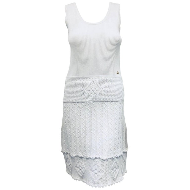 Carefree Chanel White Sleeveless Dress