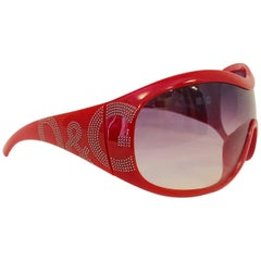 Men's Delicious D&G Dolce & Gabbana Wrap Sunglasses in Hot Red