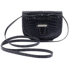 Hermes Convoyeur Shiny Alligator Mini Crossbody Bag