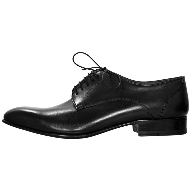 Lanvin Men's Black Leather Oxford Shoes Sz 8 NIB