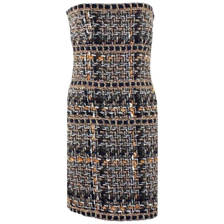 Chanel Lesage Metallic Braided Fantasy Tweed Dress