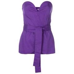 Yves Saint Laurent  Purple Corset Top