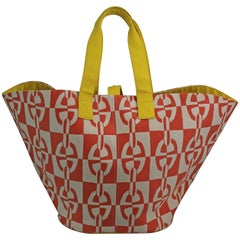 Hermes Oange  Chaine d'ancre XL Beach Tote Bag