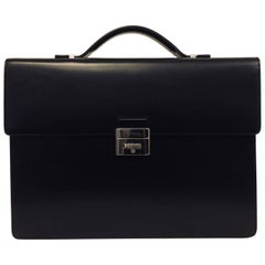 Men's S.T. Dupont Leather Briefcase, 1 Gusset - New
