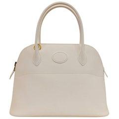 Hermes Bolide Rigide 27 White Epsom GHW Bag, 2017