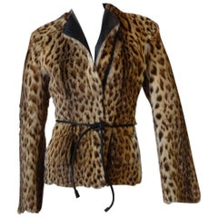 1999 Tom Ford for Gucci Leopard Printed Fur Coat Documented