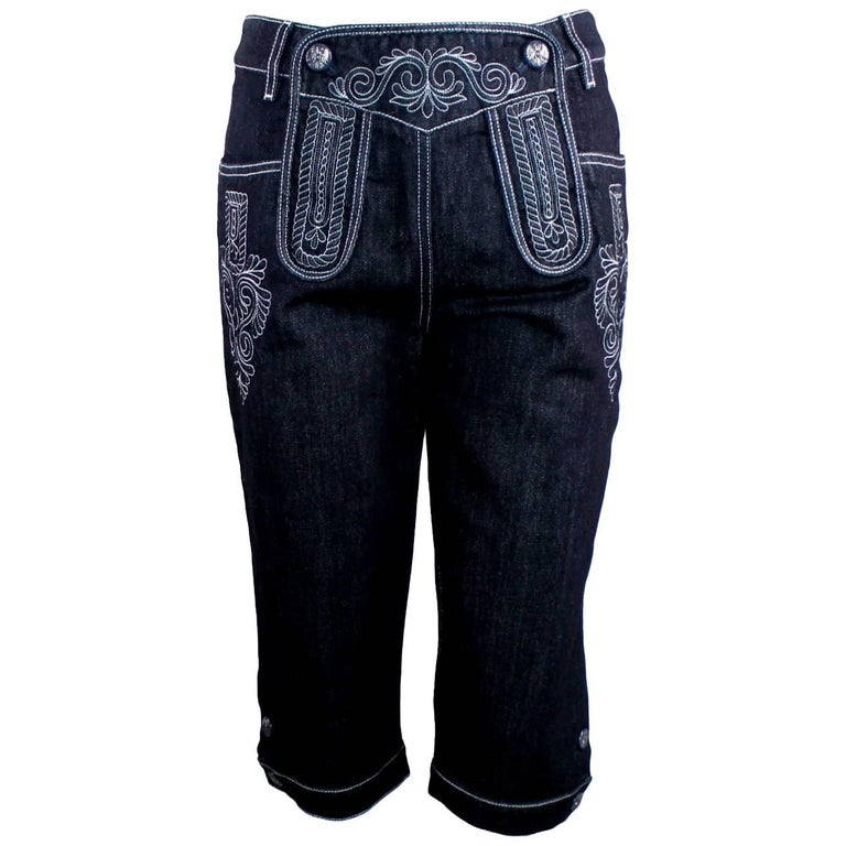 Chanel Embroidered Denim Jeans Pants Metiers d'Art Salzburg Collection
