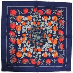 Hermes by Annie Faivre Jardins d'eden silk pocket square