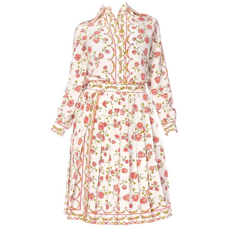 1960s Emilio Pucci Couture Silk Ensemble