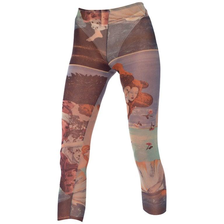 Jean Paul Gaultier Botticelli Venus Sheer Net Leggings