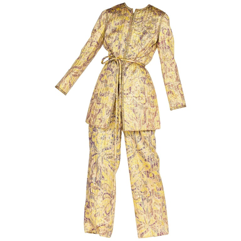 Malcolm Starr 1960s Metallic Evening Suit with Crystals