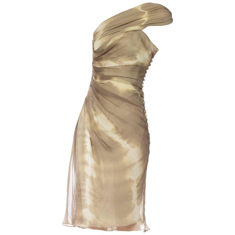 John Galliano Christian Dior Tye Dye Dress For Sale