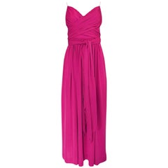 1970s Marita by Anthony Muto Pink Wrapped Jersey Halter Dress