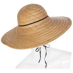 1970s Halston Bamboo Sun Hat