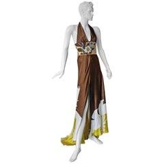 Valentino Halter Hand Beaded Runway Dress Gown New!