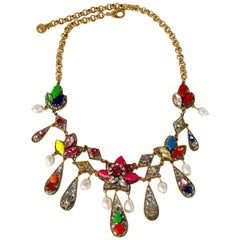 Shourouk Disco Moon Glitter Necklace