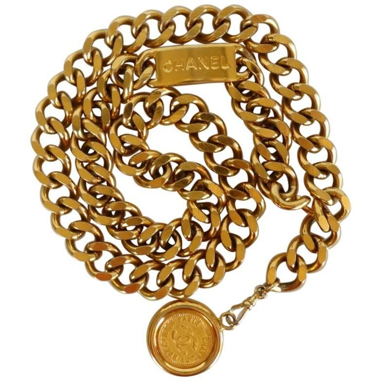 Chanel Chain Link Medallion Belt, 1990s