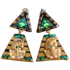1980s Cleopatra Clip Earrings