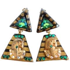 1980s Cleopatra Clip Earrings