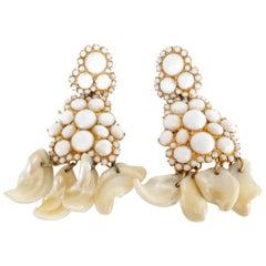 1960s William De Lillo Shell Earrings