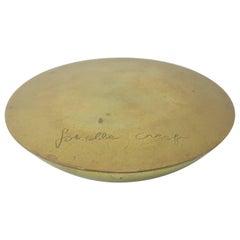 Signed 1970's Gabriella Crespi Brass Swivel Box