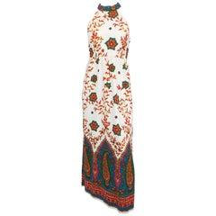 Indian Print Maxi Dress, 1960s