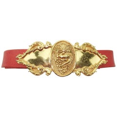 Vintage Accessocraft NYC Ornate Dragon Belt