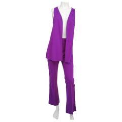 Purple Hippie Vest and Pant Set, 1970s