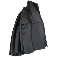 Rare Comme des Garcons Junya Watanabe Runway Black Avant Garde Cape Jacket