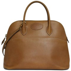 Hermes Ardennes Gold Cow Leather Bolide 35 Bag