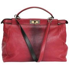 Fendi Raspberry Leather Peekaboo Bag