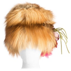 Dolce & Gabbana red-haired fox fur hat , ss 2000