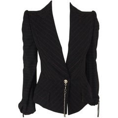 2000s Gianfranco Ferrè Black Blazer Jacket