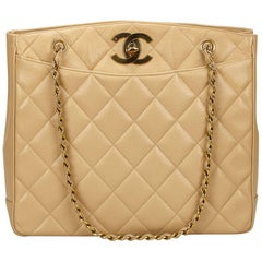 60d2f62c136e Chanel Beige Caviar Leather Shoulder Bag