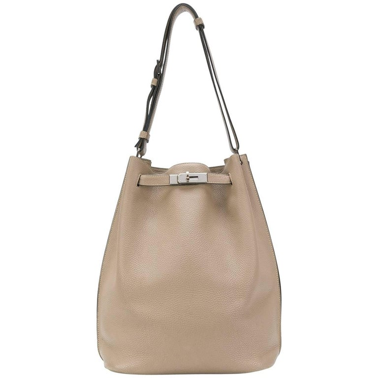 Hermes Taupe So Kelly Bag For Sale