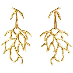 Giulia Barela Gold Plated Bronze Salix Earrings