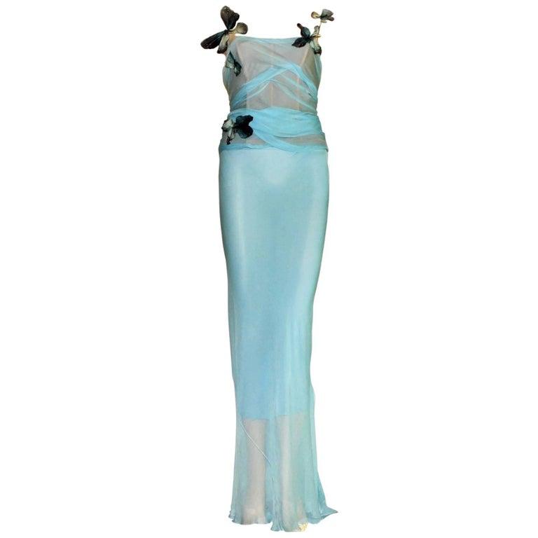 Pamela's Dolce & Gabbana 1998 Corset Butterfly Evening Gown Dress