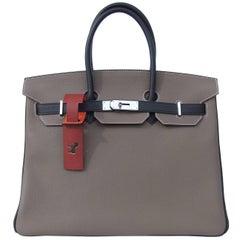 Hermès Luggage Mark Tag Petit H Horse Leather Bag Charm Bi Color