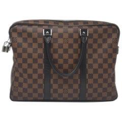 Louis Vuitton Porte Documents Voyage Damier Ebene Bag