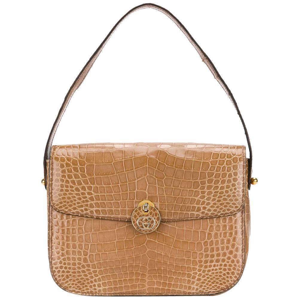 c1b799a4661f Auth GUCCI GG/Sukey 223974 Beige Dark Brown Jacquard Leather Handbag